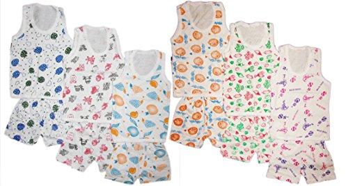 kids boys girls unisex top vest and bottom shorts baba suit set pack of 6 - 51xCfr 2BhNhL - kids boys girls unisex top vest and bottom shorts Baba suit set pack of 6 home - 51xCfr 2BhNhL - Home