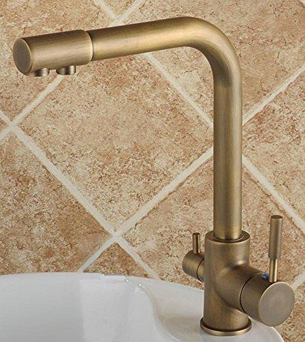 ottone antico singola maniglia girevole monocomando rubinetto
