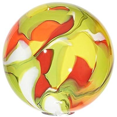"""Gartenkugel, Rosenkugel, Dekokugel """"K5 - Design 9"""" multicolor, Ø 13 cm, mundgeblasen und handgeformtes Glas Unikat (ART GLASS powered by CRISTALICA) von CRISTALICA auf Du und dein Garten"""