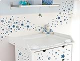 I-love-Wandtattoo–Adesivo da parete 10242, motivo stelle, per camera dei bambini grigio chiaro