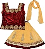 Kid's Stop Girl's Blended Lehenga Choli Set