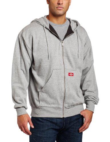 Thermal Line Hooded Fleece Zip Sweat, Ash Grey, XL Zip-hooded Thermal