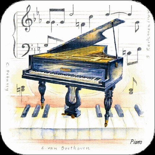 little-snoring-gifts-piano-coasters-pack-of-4