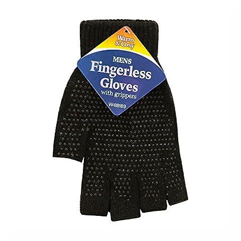 Men's Fingerless Gripper Gloves