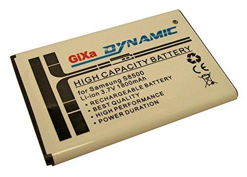 *1800mAh* GiXa Technology Akku für Samsung S8500 Wave Ersatzakku Leistung Ersatz Accu Aku Batterie Akku passend fürSamsung Omnia 7 / B7300 Omnia Lite / B7330 Omnia Pro / B7610 OMNIA Pro / B7620 Armani / B7620 / Giorgio Armani / Galaxy Lite/ Galaxy Portal / i5700 Galaxy Spica / GT-i6410 / GT-i5800 / i5800 / i8320 / i8700 / i8520 Galaxy 3 / i5801 Galaxy 3 / Galaxy Beam / i8910 Omnia HD / S5350 Shark / GT-S5800 / i5700 Galaxy Spica / Vodafone 360 H1 / Vodafone 360 Samsung M1 / S8500 Wave / Wava S5800 / Omnia 3G / S8500 Wave / i8305 Halo