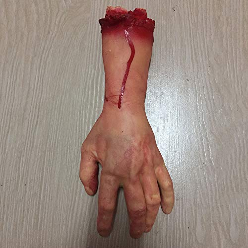 Urmagic Halloween Scary Dekorationen Fake Dead Blutige Körperteile Requisiten Human Abgetrennter Fuß Hand & Finger Süßes oder Saures Party Prop Dekoration Haunted House Halloween ()