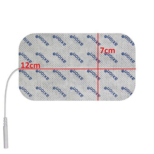 2 Stück Elektroden / Pads 120x70mm gross, für TENS - EMS - Reizstromgerät mit 2mm-Anschluss. - 3