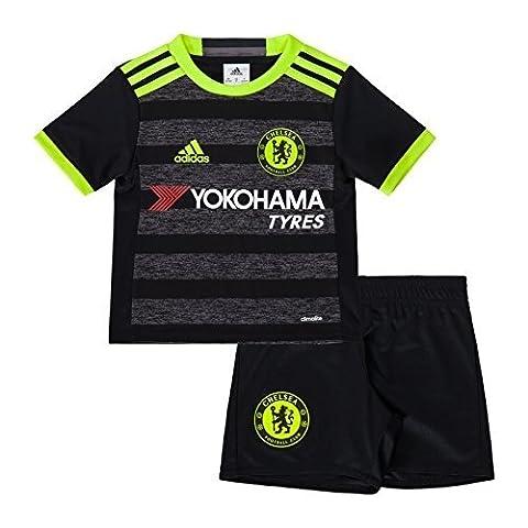 adidas CFC A MINI - 2 Mannschaftsbekleidung Ensemble Chelsea FC 2015/16 - Unisex Kinder, Schwarz / Gelb / Rot, 116
