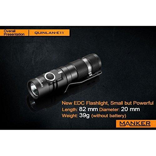 Preisvergleich Produktbild Manker E11Taschenlampe EDC 800Lumen LED Cree XP Neutral White 252Meter
