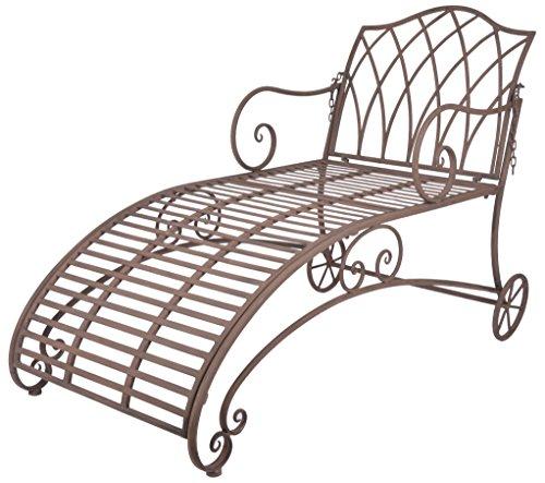 Esschert Design Chaise Longue en métal