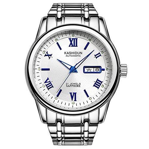Automatische mechanische Uhren/Freizeit Business Watch/Wasserdichte Edelstahluhr-E
