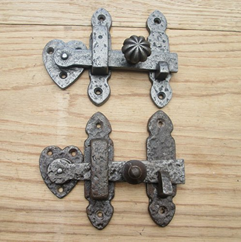 Ironmongery world® vecchio armadio per cancelli, barra per anta in ferro battuto strutturato antichizzata (bordato manopola)