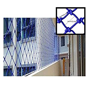 SunYaZhou Nets Blue Child Safety Net Decoration Protection Fence Climbing Woven Rope Cargo Trailer Nets Netting Decor Mesh, Railings Stairs Playground Children Indoor Decoration Outdoor Balcony   8