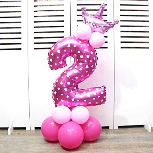 MENGZHEN - Globos de Helio para Fiesta de Cumpleaños, Cumpleaños, Graduación, Aniversario, etc, Látex, Rosa, 2