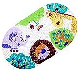 mi ji Alfombrilla Antideslizante Alfombra de baño Ducha Mat niños con ventosas Brillante imprimió la Historieta para los niños Bañera Mat (Madagascar) para su casa