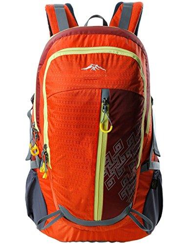 La nuova cinghia cuscino d'aria unisex escursionismo zaino da campeggio giro zaino 40L di guida ( colore : Nero ) Arancia
