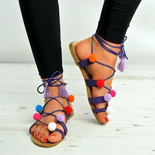 Cucu Fashion , Peep-Toe femme violet foncé