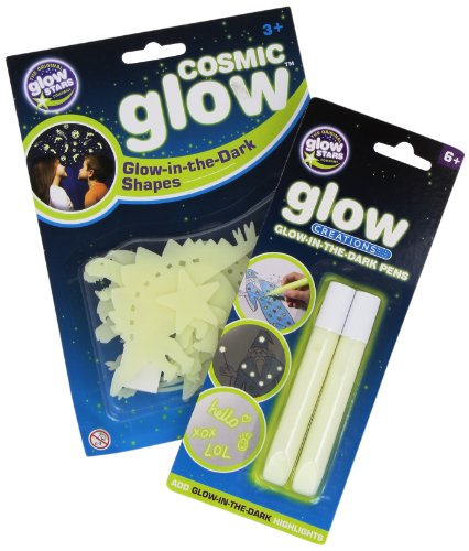The Original Glowstars Company - Pegatinas para Pared y Cristal Dinosaurios (Brainstorm B8997)