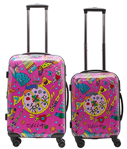 Packenger One World by Della Koffer 2er-Set M+L, Pink