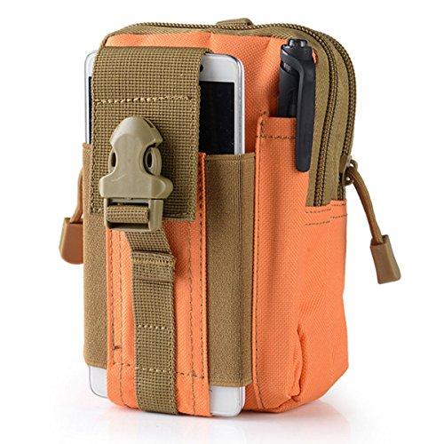 Wear-Resisting Taktisch Tasche - WinCret Außen Sport Leichtbau mit Hoher Kapazität Wasserdicht Nylon Molle Reißverschluss-Pack Utility Taille Tasche für Kleine Gegenstände Orange