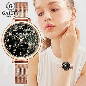 DIKHBJWQ Intelligente Armbanduhr Quarz Uhr Fitness Tracker Uhren Temperament Analog-Digital Smartwatch Dame Edelstahl Mesh Gürtel automatik Armband Kinder wecker für Herren