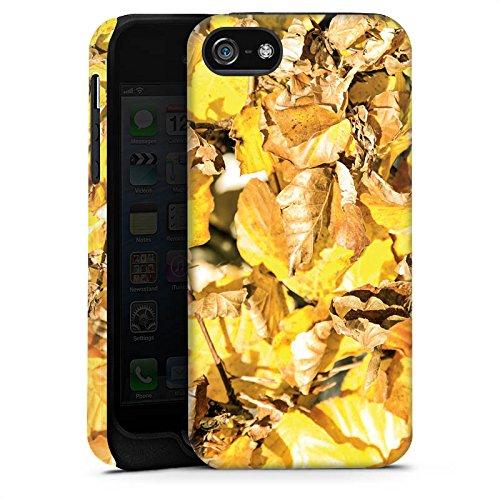 Apple iPhone 5 Housse étui coque protection Automne Feuillage Feuilles Cas Tough terne