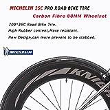 Carbon Rennrad,SAVADECK Phantom3.0 700C Rennrad Kohlefaser Rennräder Fahrrad Shimano Ultegra 8000 22 Speed Group Set mit Michelin 700C*25C Reifen und Fizik Sattel (56cm, Grau) - 8