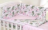 5 PCS PRO COSMO Bedding Set to FIT COT &COT Bed Pillow Duvet Bumper 100% Cotton