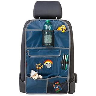 Walser 30699 Auto Organizer Kinder, Rückenlehnenschutz Kinder, Cool Boy Blau