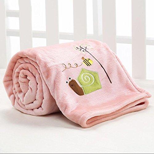 Rollsnownow Rosa Schnecke Muster Baby Decke Quilt Polyester Material Winter Kindergarten für Baby Design (100 * 150 cm)