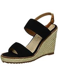 Xti Black Suede Ladies Sandals ., chaussures compensées femme