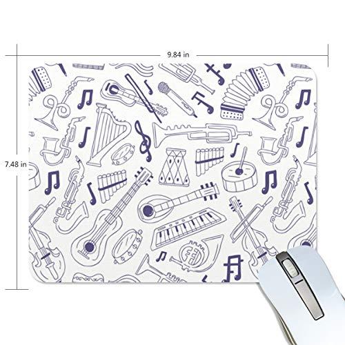 FAJRO Musikinstrumente Skizzieren Standard Computer Mauspad Schreibtisch Mauspad Gaming Pad Anti-Rutsch-Gummi Unterlage und Jersey-Oberfläche für Büro, Zuhause