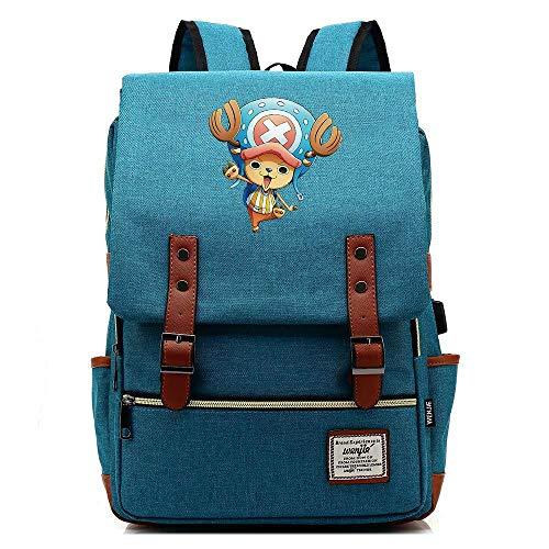 Jugend Kostüm Blue Mann - JJJDD One Piece Jugend Student USB Tasche Männer und Frauen 16 Zoll Freizeit Reisetasche @ See Blue_16 Zoll