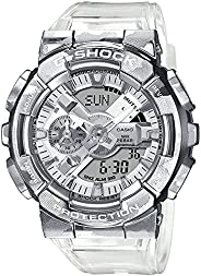 Casio G Shock GM 110SCM 1ADR Metal Face Men's Digital Analog Wrist Watch, Si