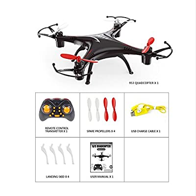 Mini Drone With Remote Controller Transmitter 3D Roll One Key to Return 2.4GHz 4CH 6Axis Gyro RC Hexacopter with LED Flashing Light