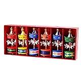 6Frohe Weihnachten Holz Karussell Pferd Ornaments Weihnachts Kinder Geschenk Anhänger