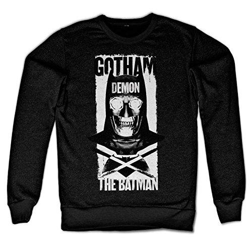 Demon Batman Kostüm - Officially Licensed Merchandise Gotham Demon Sweatshirt (Black), Small