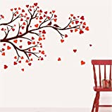 Asmi Collections Wall Stickers Beautiful Love Tree and Birds