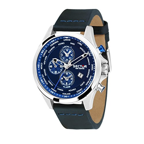 SECTOR Hommes Chronographe Quartz Montre avec Bracelet en Cuir R3251180023