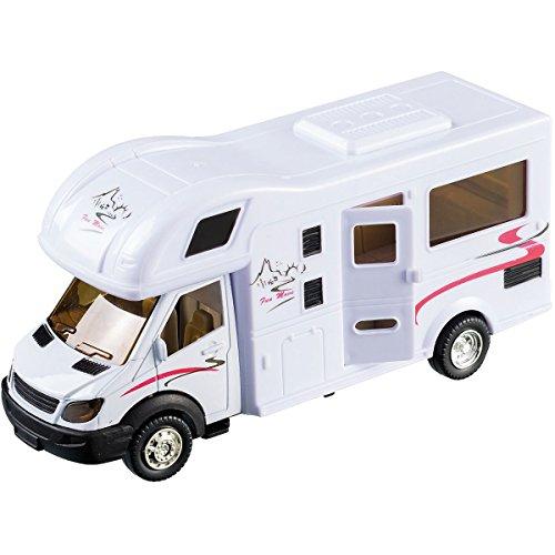 Motorhome-Wohnmobil, ca.17cm mit Rückzug, Metall und Kunststoff: Camping Spielset Spielzeug Wohnwagen Caravan Auto Spielauto Camper Wohnmobil ist bereit für den nächsten Campingurlaub Gewicht: ca 140g