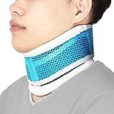 REAQER Halskrause für Erwachsene Nackenstütze Halskrawatte Zervikalstütze Nacken-Höhe Verstellbar,Atmungsaktiv,Relieves Spine, Muscle, Schmerz, Steifheit, Hernie, Arthrose (Blau)