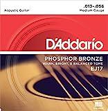 D'Addario EJ17 Phosphor Bronze Jeu de cordes pour guitare acoustique Tirant medium .013-.056