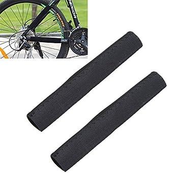 rivalités (TM) 2Cadre Protection d'écran de cyclisme pour chaîne de vélo Noir Chaîne Stay Livré Protection d'écran pour VTT Chaîne de vélo Housse de protection