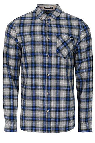 Tokyo Laundry - Chemise casual - Avec boutons - À Carreaux - Col Chemise Classique - Homme bleu océan