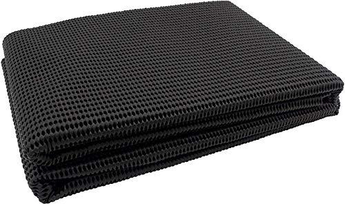 Antirutschmatte 120 x 100 cm abwaschbar zuschneidbar Farbe schwarz passend für PKW Kofferraum, Boot, Wohnwagen sowie im Haushalt und als Teppichstopper