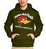 Coole-Fun-T-Shirts Sweatshirt Eddies Auto parts JACK ASS - Hoodie, oliv/weiß, XL, N10619_oliv/weiss_GR.XL