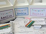PERSONALISED CHILDREN'S WEDDING ACTIVITY BOX - complete with activity pack & tissue paper