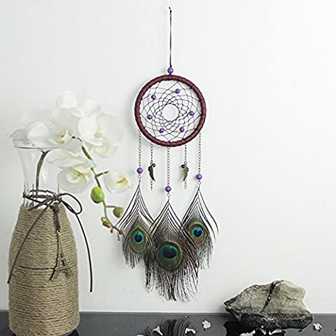 Tutoy Natural Hand-Woven Plumes Dreamcatcher American Folk-Custom Gifts Accueil Car Hanging Decor Ornament
