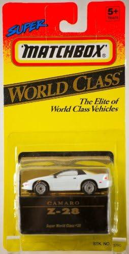 1993 - Tyco Toys Inc - Super Super Super Matchbox - World Class 38 - Camaro Z-28 - White - 1:64 Scale Die Cast - MOC - Out of Production - Limited Edition - Collectible | De Qualité Supérieure  64a3c5