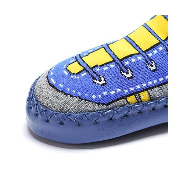 Adorel Calcetines Zapatos Antideslizantes para Bebé 3 Pares 3